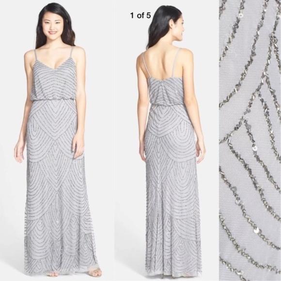 3d7cd11e Adrianna Papell Dresses | New Beaded Blouson Art Deco Gown 8 | Poshmark